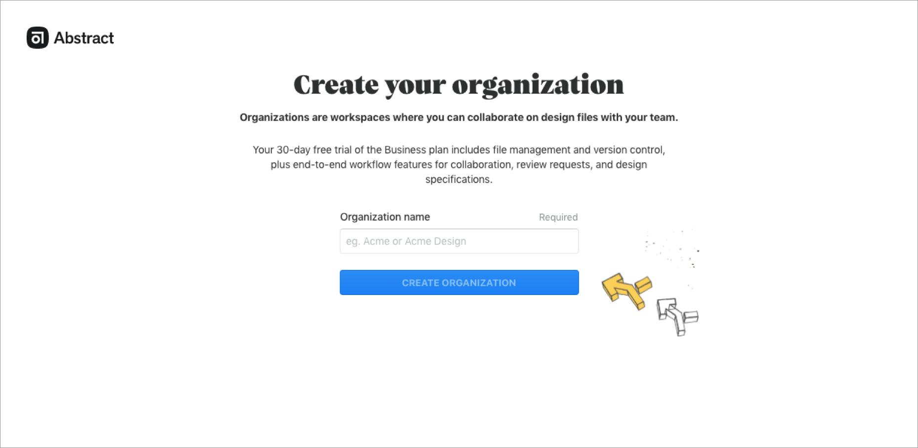 組織名登録画面