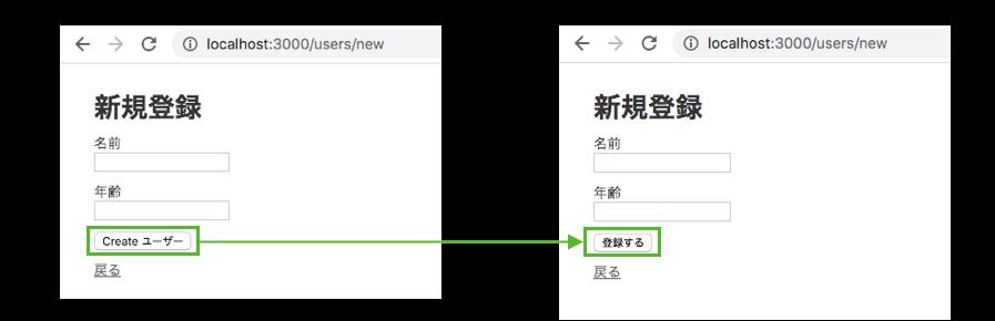 submitを日本語化