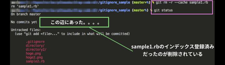 インデックスに登録したsample1.rbが解除される