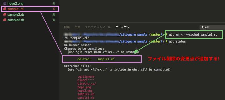 ファイル削除の変更点が追加される